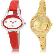 The Shopoholic White Gold Combo Best Combo Pack White And Gold Dial Analog Watch For Girls For Watches Women