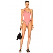 Norma Kamali for FWRD Stud One Shoulder Mio One Piece in Pink. - size M (also in S,XS)