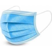 Set 50 masti chirurgicale medicale tip II polipropilena albastru 3 straturi 3 pliuri