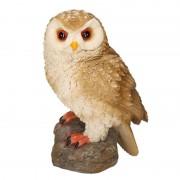 Merkloos Decoratie dieren beeld bosuil vogel 14 cm