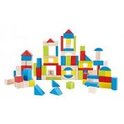 Hape Kid's Wooden Building Block Set (100 Pieces)