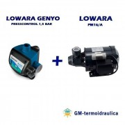 Kit Autoclave Elettropompa Periferica Lowara Pm 16 0,4 Hp 0,3 Kw + Press Control Lowara Genyo 8a/f15 1,5 Bar