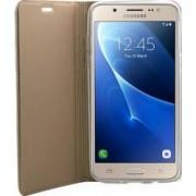 Husa Flip Focus Samsung Galaxy J5-2016 Auriu