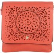 Dice Cutwork S Pink Sling Bag