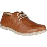 Butchi Men's Brown Lace-up Smart Casuals
