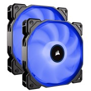 Вентилатор за кутия Corsair AF140 LED Low Noise Cooling Fan, 140mm x 25mm, Dual Pack, Blue