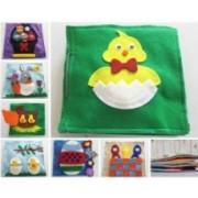 Carte din fetru cu activitati pentru copii Model 6