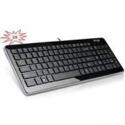 Мултимедийна клавиатура Delux K1500 USB без БДС, Черна, K1500U_VZ