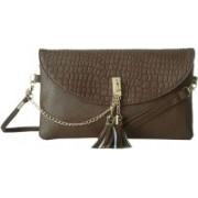 Lino Perros Women Casual Brown Leatherette Sling Bag