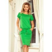 MyButik.pl Sukienka Sportowa Z Krótkim Rękawkiem Zielona S/M/L/XL