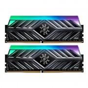 Memorie ADATA XPG Spectrix D41 Titanium Gray RGB 16GB DDR4 3200MHz CL16 Dual Channel Kit