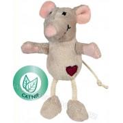 Myš se srdíčkem 11 cm - hračka pro kočky s catnipem