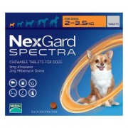 Nexgard Spectra Tab Xsmall Dog 4.4-7.7 Lbs Orange 3 Pack