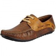 Fausto Men Brown Lace-Up Casual Shoes
