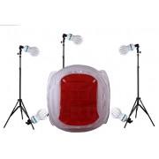 Zestaw oświetleniowy bezcieniowy - 6x800W + namiot 150cm +3x statyw 230cm (Z270)