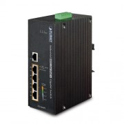 PLANET IP30 5-Port Gigabit Switch with 4-Port 802.3AT POE+ (-40 to 75 C)