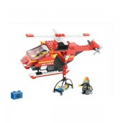 Sluban Europe Jeu De Construction - Serie Pompiers - Helicoptere De Secours