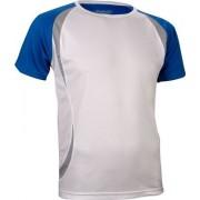 Avento Sportshirt Korte Mouwen Heren Wit/Blauw Maat S