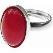 Inel argint reglabil cu agata rosie naturala 14x10 MM GlamBazaar Reglabila cu Agate Rosu tip inel reglabil de argint 925 cu pietre
