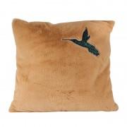 Xenos Kussen colibri - beige - 45x45 cm