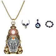 keepcart Sri Hanuman Chalisa Yantra Hanuman Kawach With Gold Plated Chain Nazar Suraksha Yantra - FREE