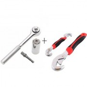 IBS Snap N Grip Shape n grip PRA76 Socket Universal Hand Repair Tool Kit Heavy Duty Nut Bolt Heads Double Power Sided Wr