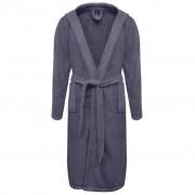 vidaXL Хавлиен халат за баня, унисекс, 100% памук, антрацит, размер М