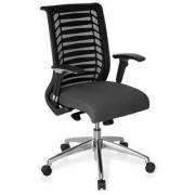 Hjh Sedia ergonomica AVATAR PRO, con schienale in rete e comodo sedile in tessuto, regolabile, in grigio/nero