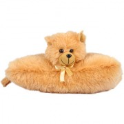 Ultra Folding Pillow Cat 11 Inches -Brown