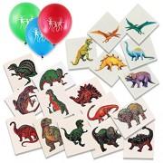 Dinosaur Themed Temporary Tattoo Party Favor Treat Pack of 144 Tattoos