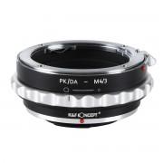 K&F Concept PK/DA-M4/3 adaptor montura de la Pentax K/M/A/FA/DA la M4/3-Mount(MFT) KF06.312
