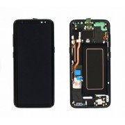 Ecran Display cu rama Samsung Galaxy S8 G950f Negru cu burn reconditionat