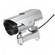 Solar Power Fake CCTV Security Surveillance Outdoor Flash LED Camera