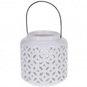 Suport lumânare, ceramică Flori, 18,5 cm