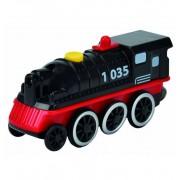 Locomotora Negra Vias Con Movimiento - Eichhorn