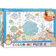 Puzzle de colorat Eurographics - Color Me - Aquarium, 100 piese (62209)