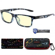 GUNNAR Optiks Kids Blue Light Blocking Glasses Cruz Kids Large Navy Tortoise/Amber