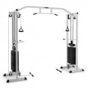 Cablefit Máquina de Polia Musculação Pesos Cabos Aço 2x~77kg Prateado