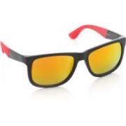 Joe Black Wayfarer Sunglasses(Orange, Yellow)