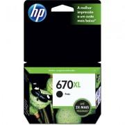 Cartucho HP 670XL Preto 14ML - CZ117AB