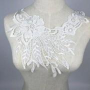 ELECTROPRIME® White Venise Flower Lace Collar Applique Embellishment Sew On Trim DIY