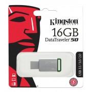 Kingston 16GB USB 3.0 DataTraveler 50, silver/grön