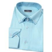 Pánská košile tyrkysová dvojitý límec Avantgard 526-2502-43/44/182