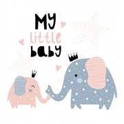 My Little Baby Baby Shower Guest Book: Elephant Baby And His Mom For Baby Girl, Sign in book, Advice for Parents, Wishes for a Baby, Bonus Gift Log, K, Hardcover/Luis Lukesun