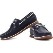 Clarks Quay Port Boat Shoes For Men(White, Navy, Brown)