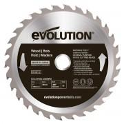 Disc pentru fierastrau circular taiere lemn Evolution EVO180WD 0446 O180 x 20 mm 30 dinti