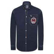 Giorgio Di Mare Worked Long Sleeved Shirt Navy GI7973239