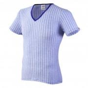 Joe Snyder V Neck Short Sleeved T Shirt Line Blue 29