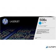 CF361A Lézertoner Color LaserJet Enterprise M552, M553 nyomtatóhoz, HP 508A, cián, 5k