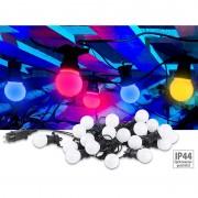 Lunartec Party-LED-Lichterkette m. 20 LED-Birnen, 6 Watt, IP44, 4-farbig, 9,5 m